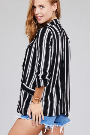 Drover Lane Stripe Blazer