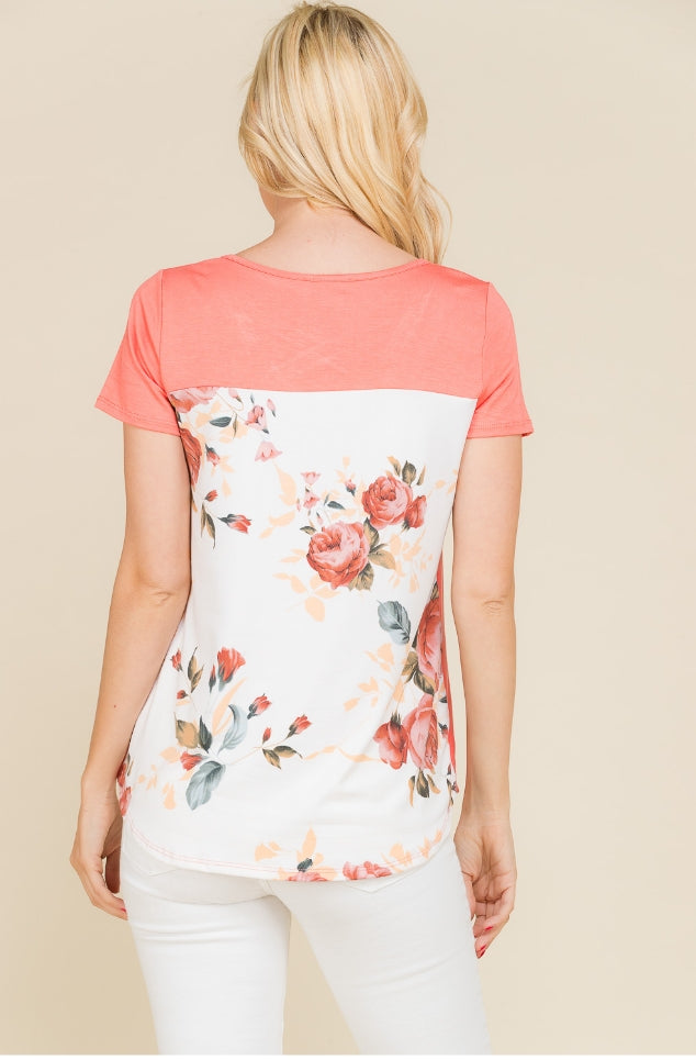 Hawthorne Floral Criss Cross Top