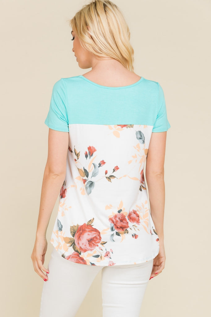 Layla Floral Criss Cross Top
