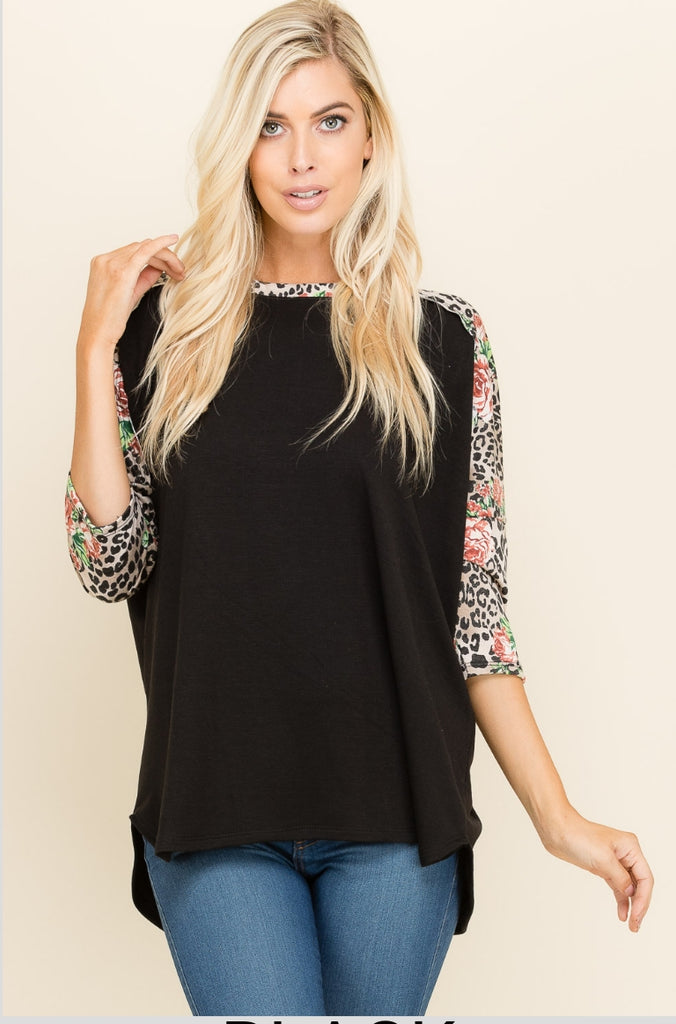 Addison Leopard & Floral Top
