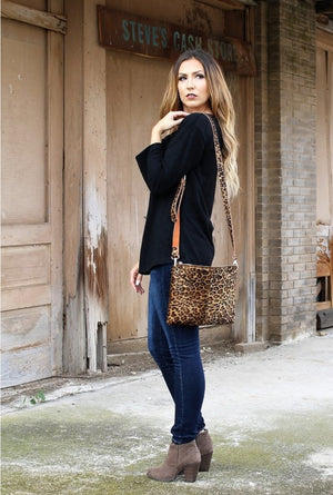 Leopard Hair On Hide Bag Collection
