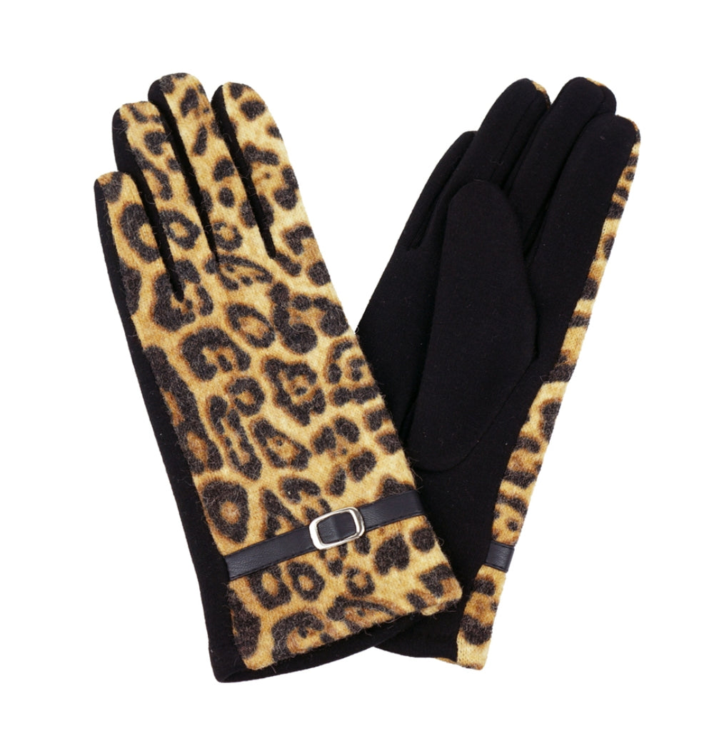 Leopard Smart Touch Gloves