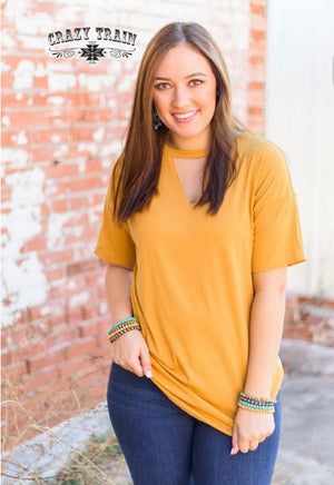 Mustard Texline Top - Also in Plus Size