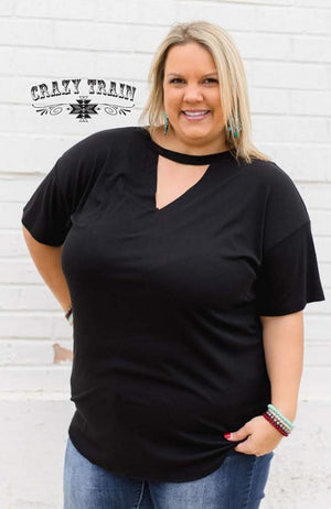 Black Texline Top - Also in Plus Size
