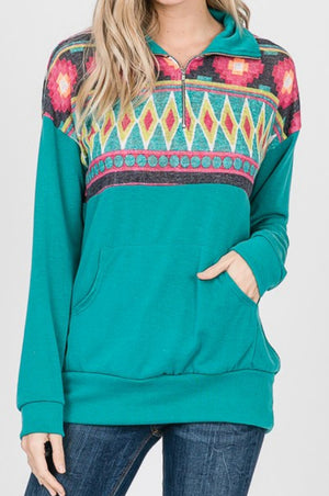 Record Year Tribal Pullover Top