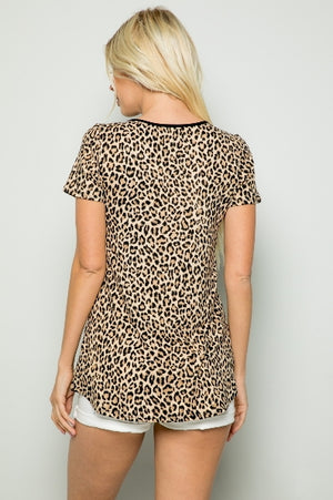 Harmony Leopard Criss Cross Top- Also in Plus Size