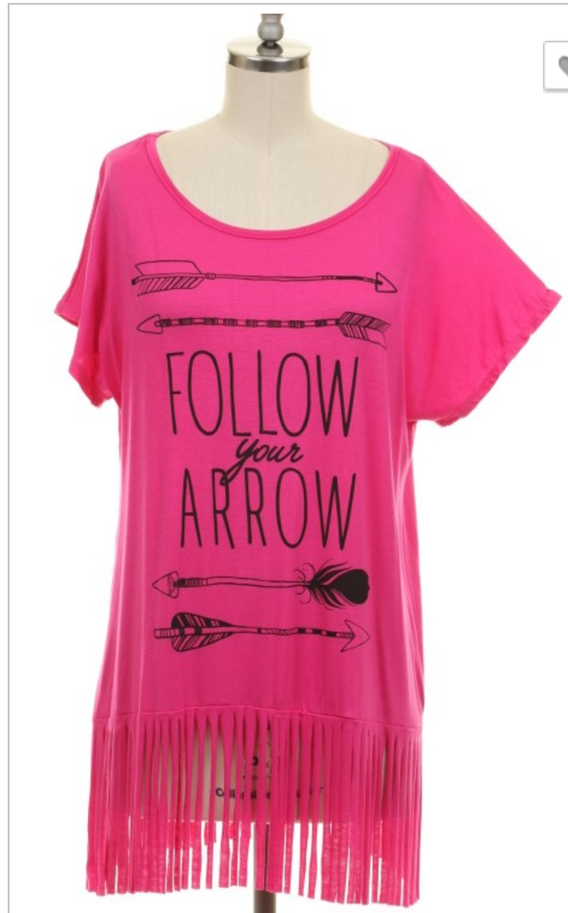 In Fringe Follow Your Arrow Top - Also in Plus Size
