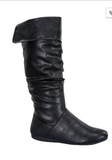 Living on The Edge Black Slouch Boots