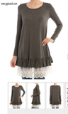 Shattering Dreams Tunic Top Lace Trim
