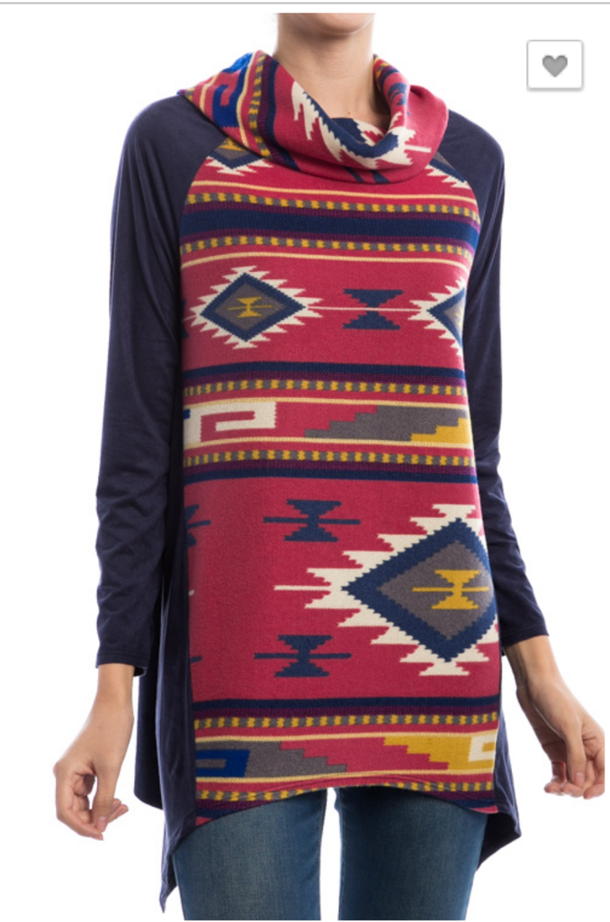 Carters Angel Tribal Suede Tunic Top - Plus Size