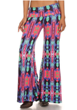High  End Tribal Palazzo Pants - Also in Plus Size