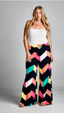 Chasey Lane Chevron Palazzo Pants - Plus Size