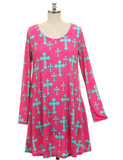 Faithful to the Cross Tunic Dress