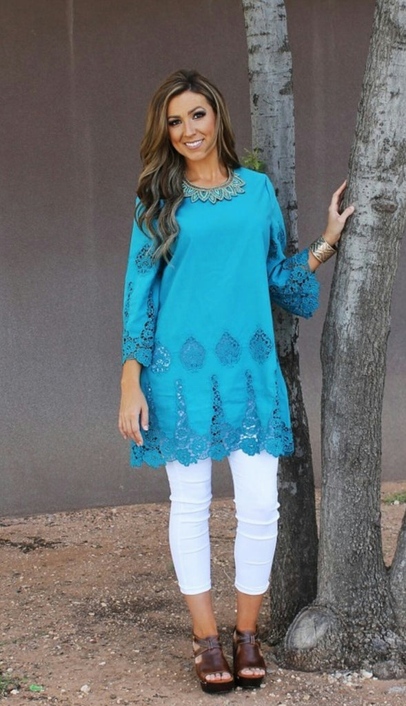 Turquoise Daydream Tunic Top