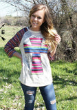 Serape Cross Top- Also in Plus Size