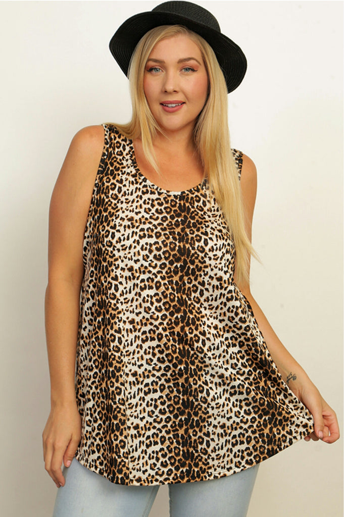 Lara Leopard Top-Also in Plus Size
