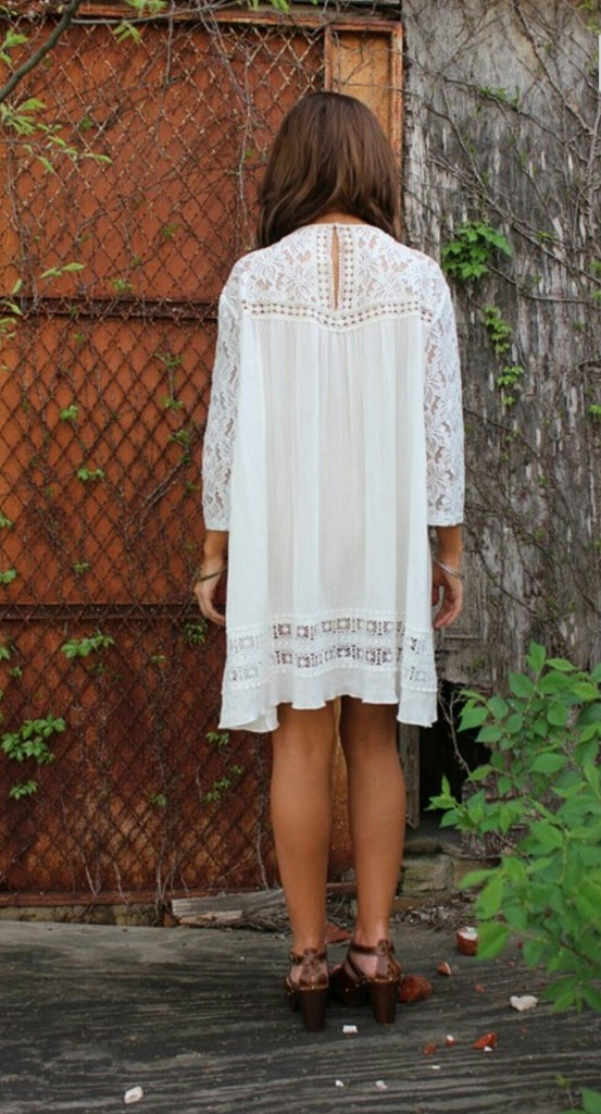 Ashlee Lace Tunic Top  - Also in Plus Size