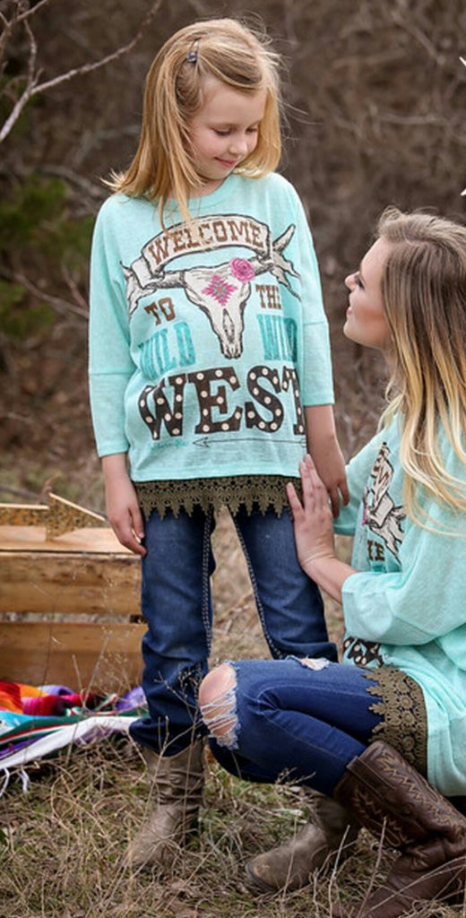 Kids - Wild West Mint Top