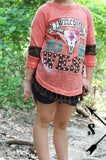 Kids - Wild West Coral Top