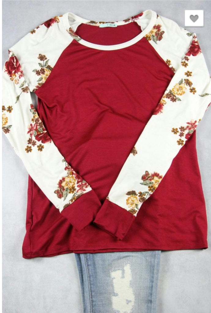 The Final Rose Burgundy Top
