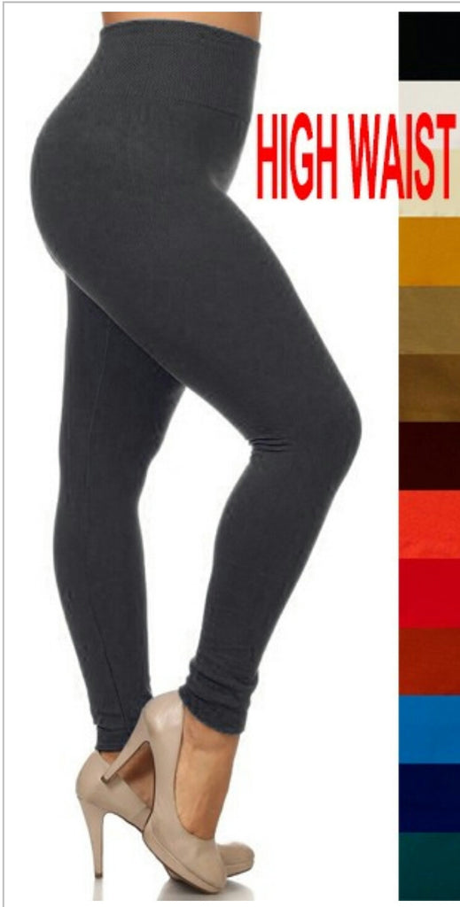 Raton Fleece High Waist Leggings-Plus Size