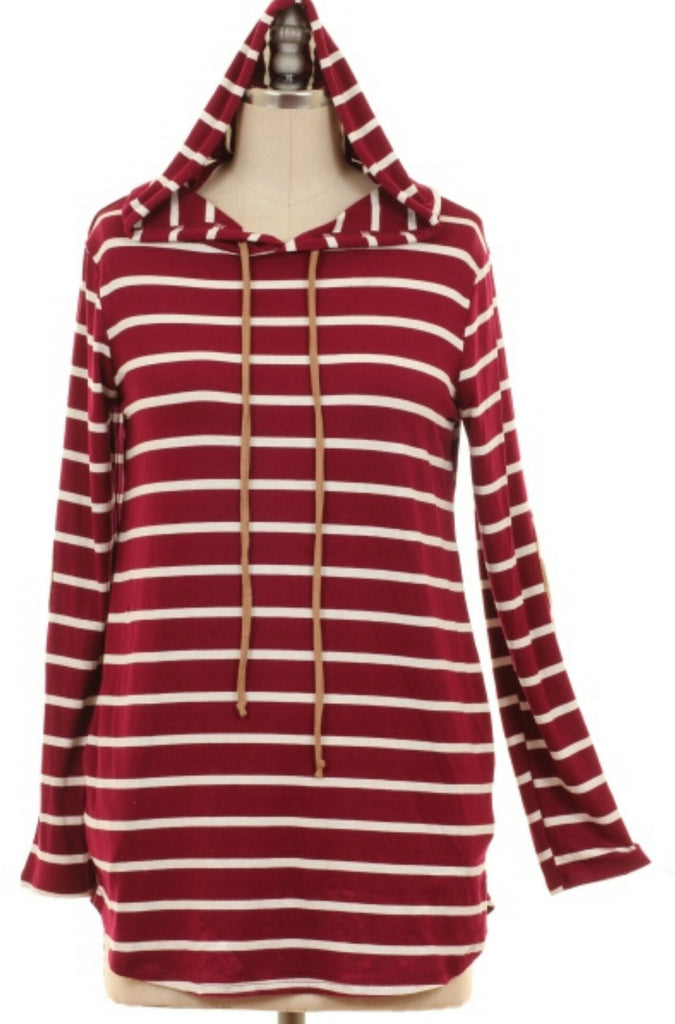 Follow My Lead Stripe Top - Plus Size