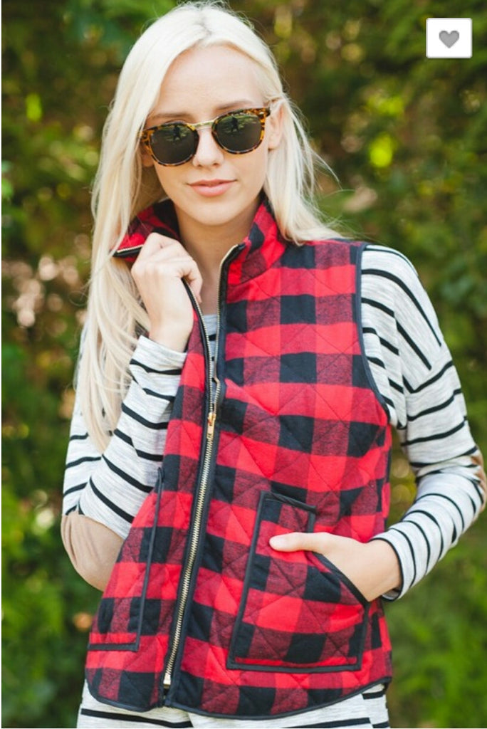 All the Right Places Buffalo Plaid Vest - Also in Plus Size