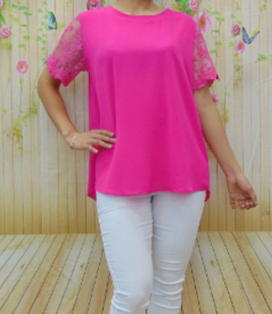 Broken Halos Pink Top - Also in Plus Size