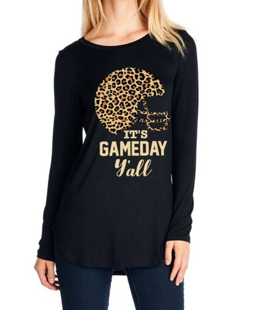 Spirit Leopard Game Day Top