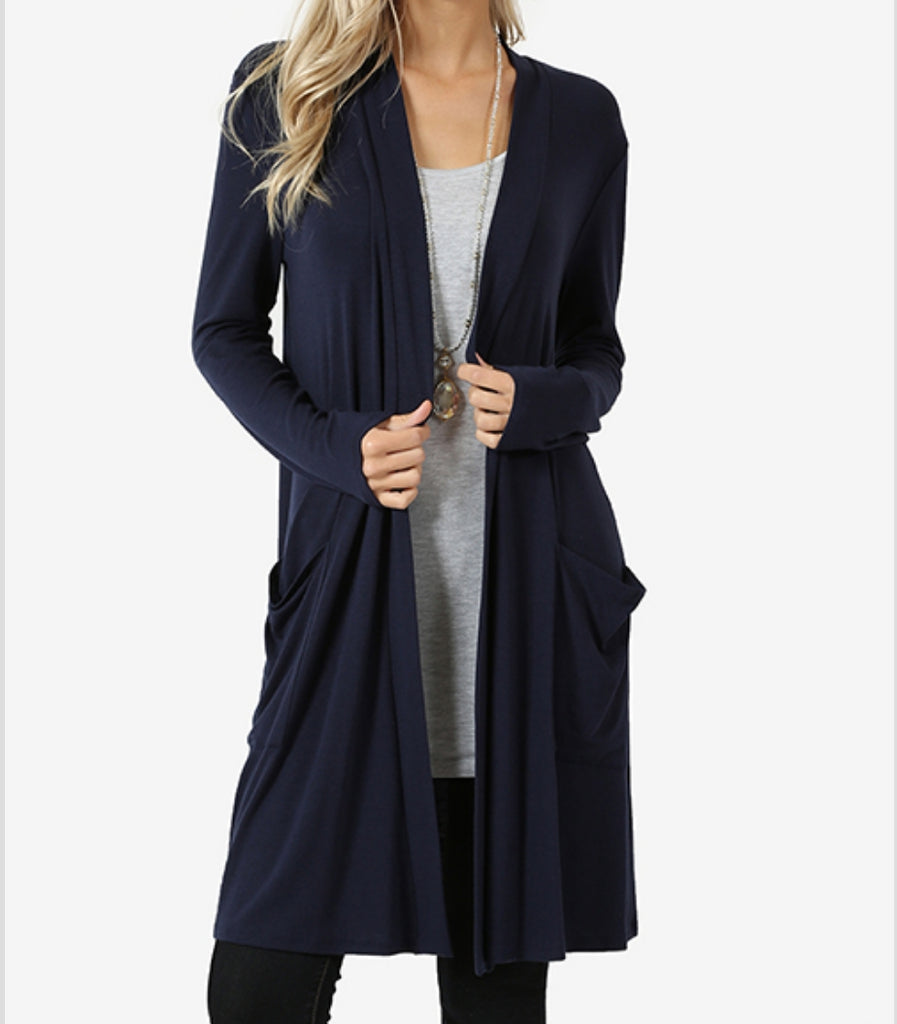 Slouchy Pocket Cardigan - Also in Plus Size
