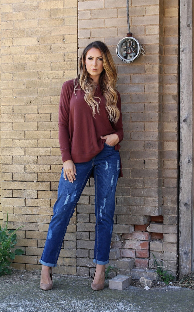 eda4ba0231af2 Layton Distressed Boyfriend Jeans - Also in Plus Size – Gypsy Ranch ...