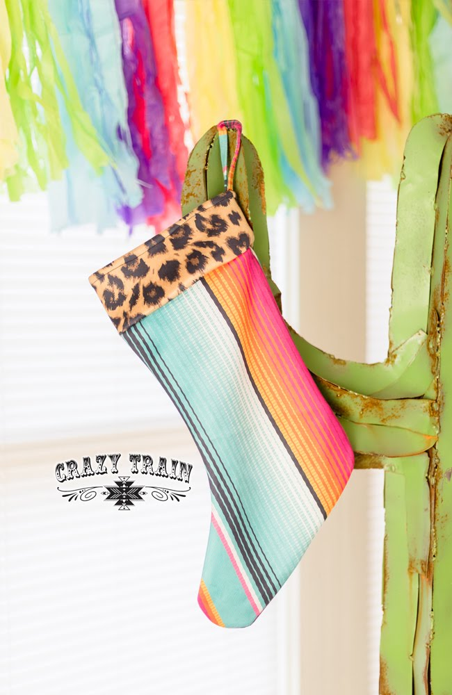 Serape Leopard Stocking
