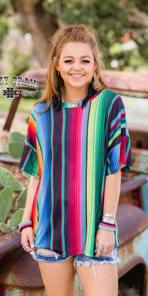 Tequila Serape Top - Also in Plus Size