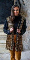 Frisco Leopard Kimono Cardigan - Also in Plus Size