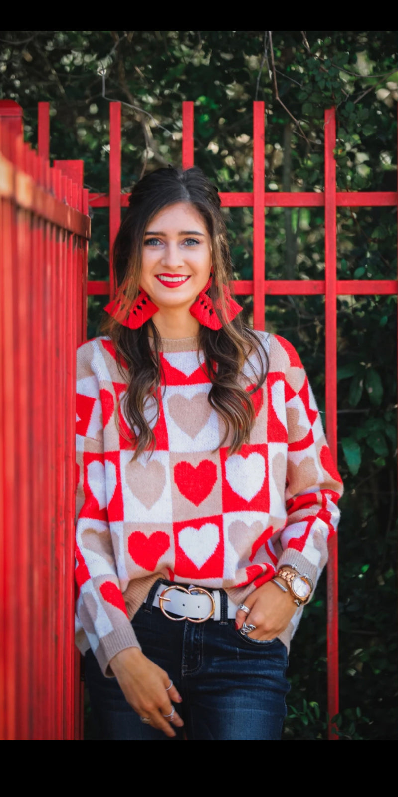Queen of Hearts Sweater Top -Also in Plus Size