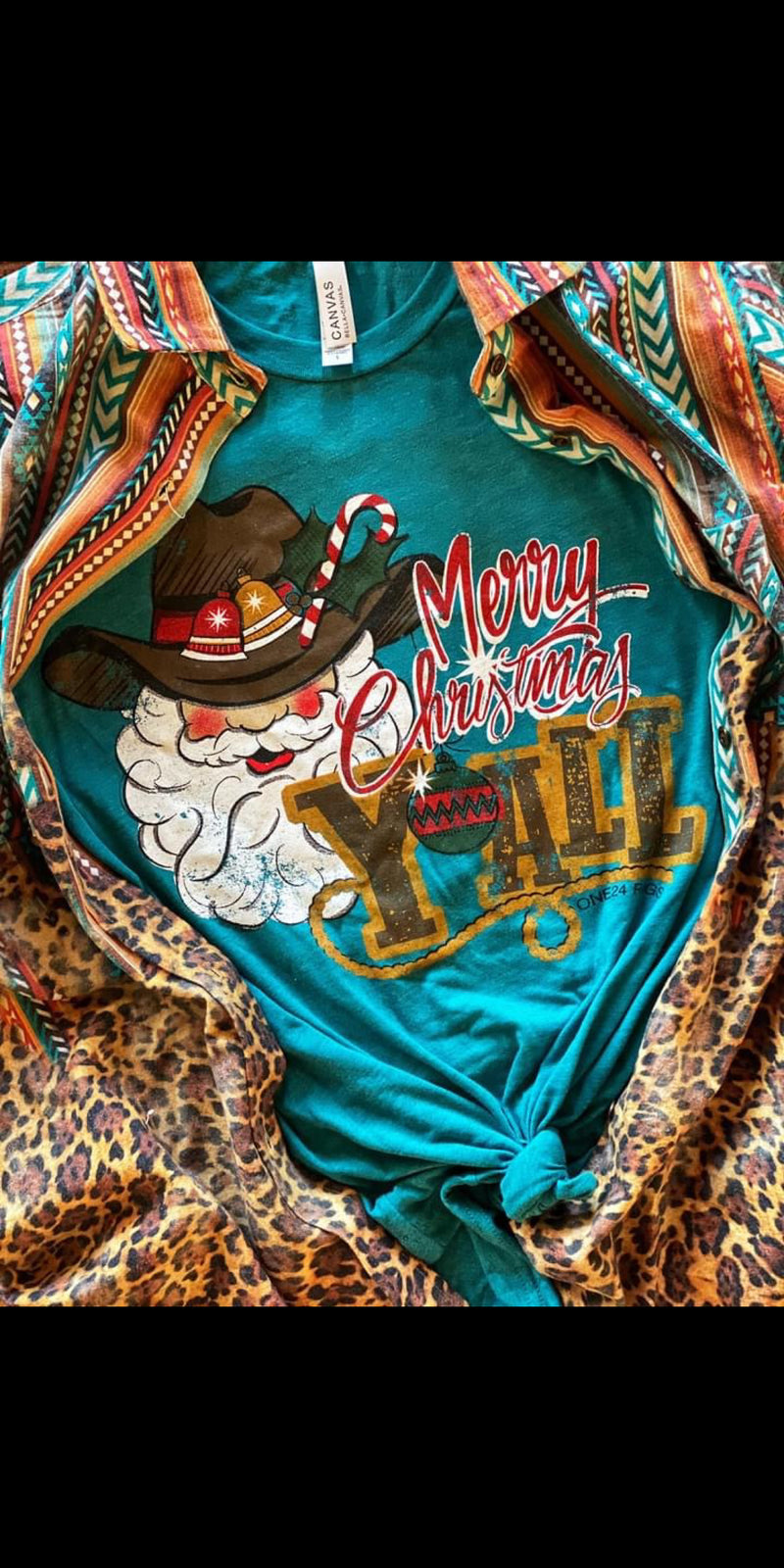 Cowboy Christmas Merry Christmas Top - Also in Plus Size