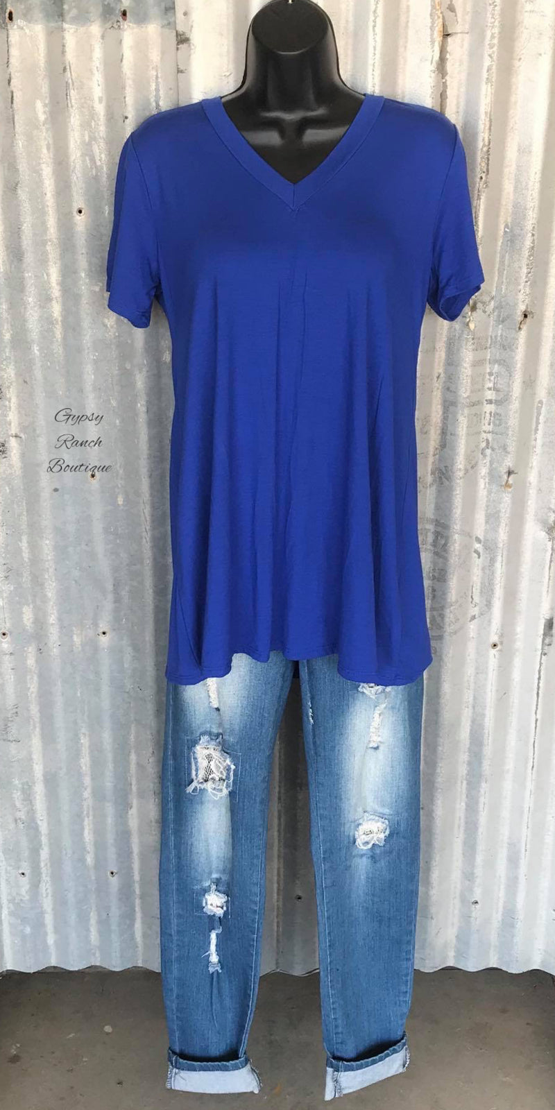 Secret Wishes Royal Blue Top  - Also in Plus Size