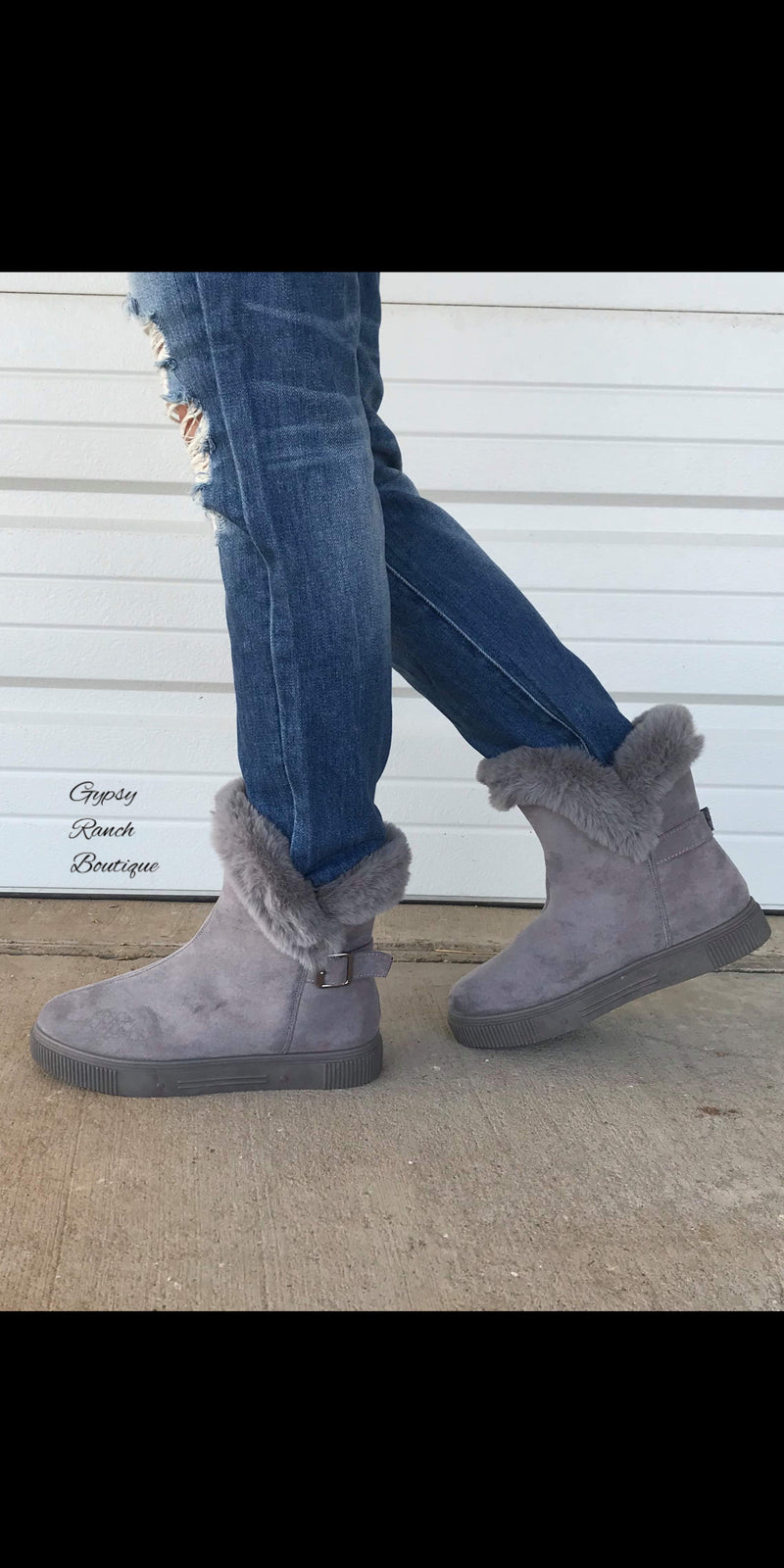 Steamboat Springs Grey Booties