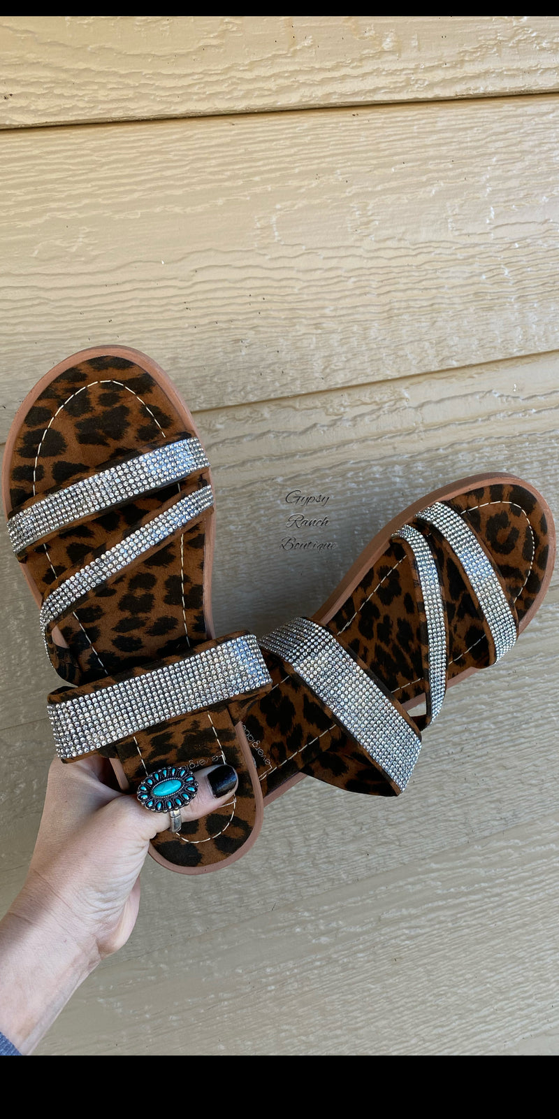 Morgan Lane Leopard Sandals