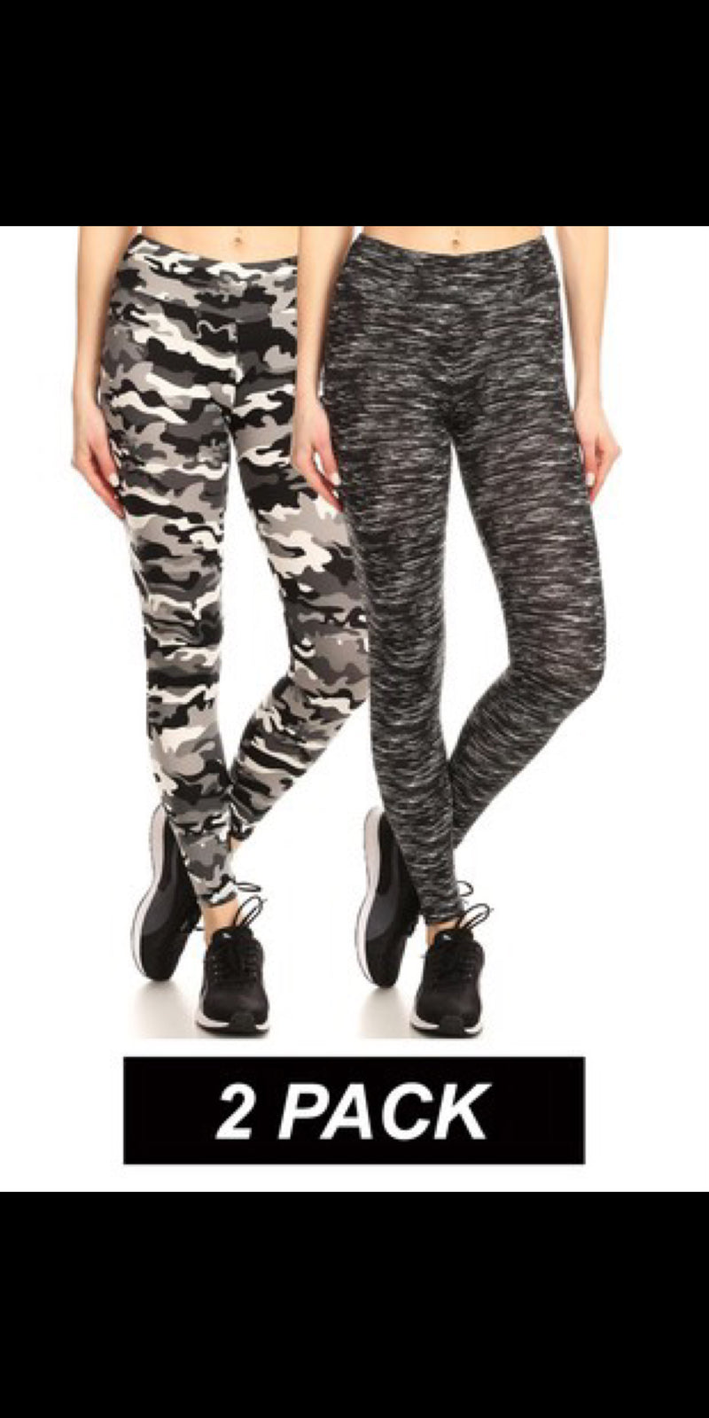 Twin Pack of Leggings - Also in Plus Size