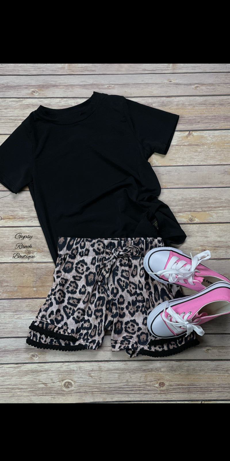 Kids Dancing Queen Leopard Shorts