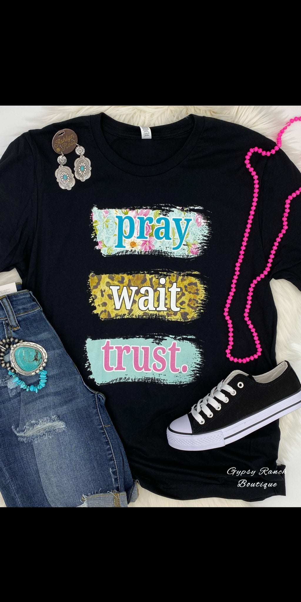 Pray Wait Trust Top - Also in Plus Size