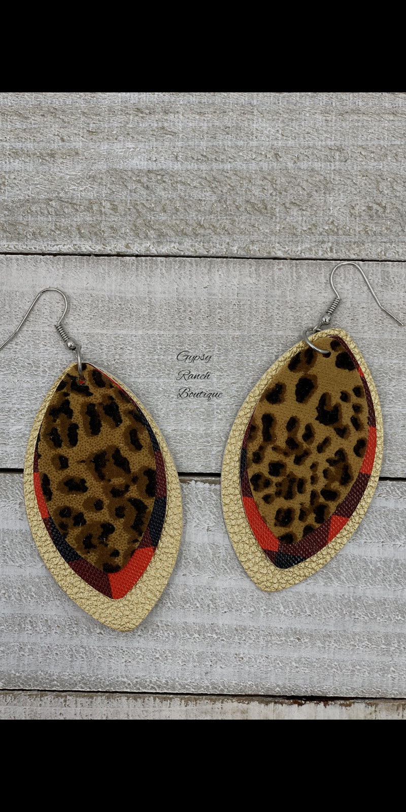 Bynum Buffalo Leopard Earrings