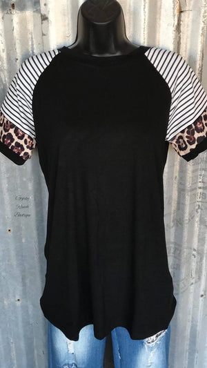 Just Between Us Leopard Top - Also in Plus Size