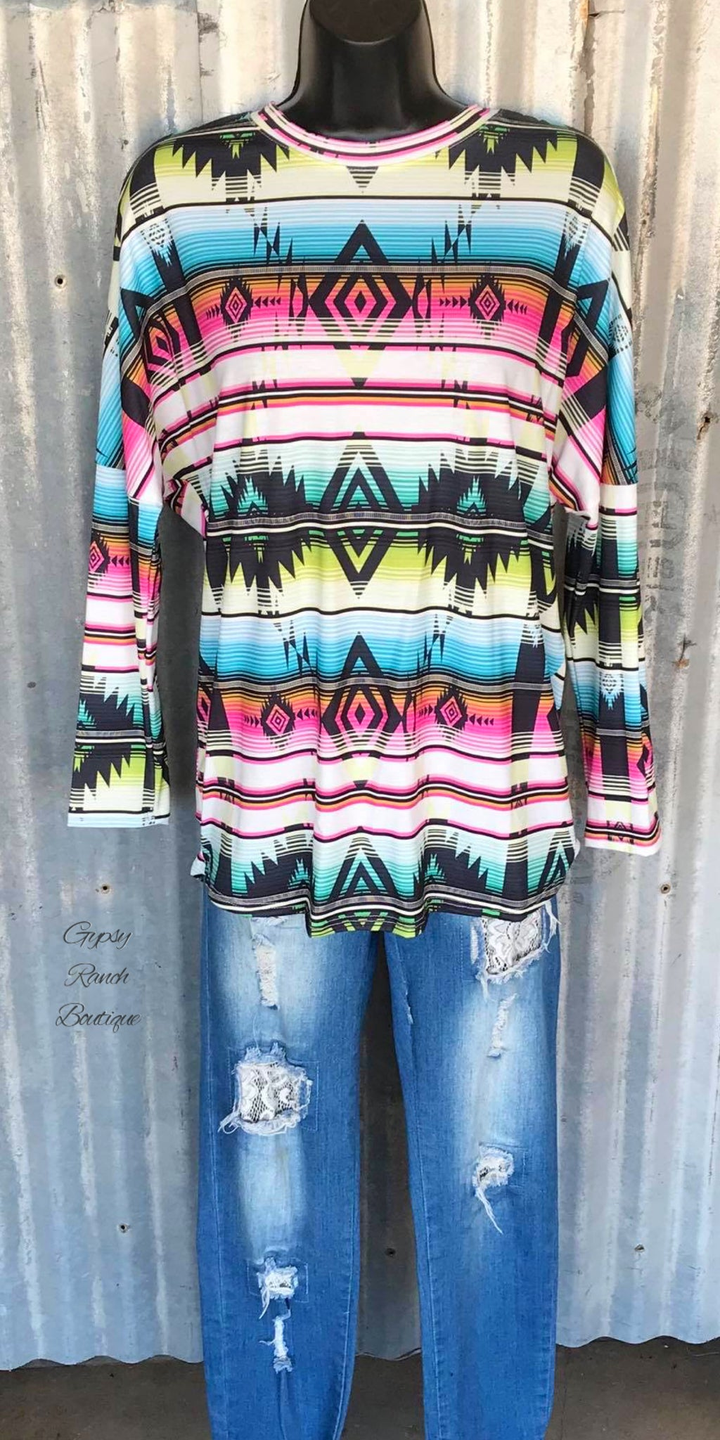 Shout It Out Aztec Serape Top - Also in Plus Size