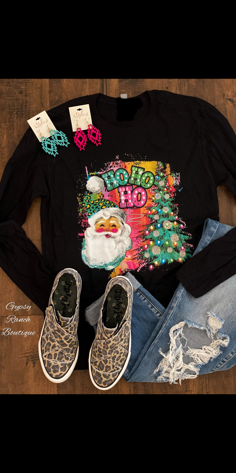 Ho Ho Ho Bright Lights Top - Also in Plus Size