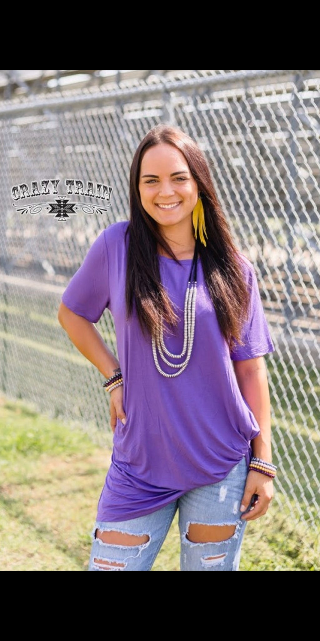 Purple Knotty Top - Also in Plus Size