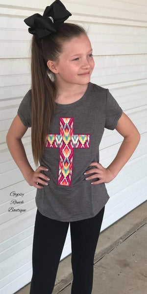 Kids Aztec Cross Top
