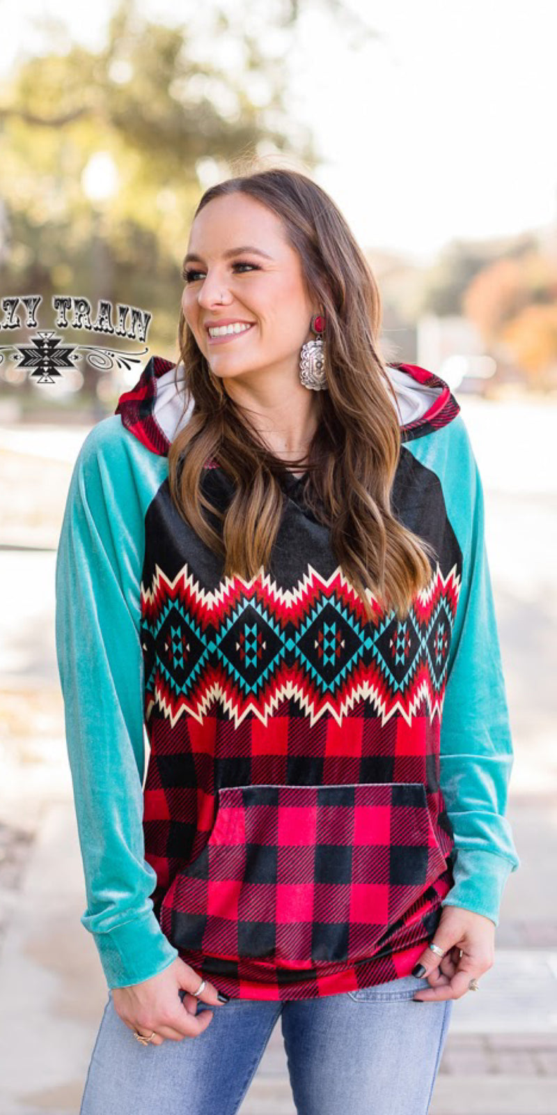 Leave Her Wild Aztec Pullover Top - Also in Plus Size