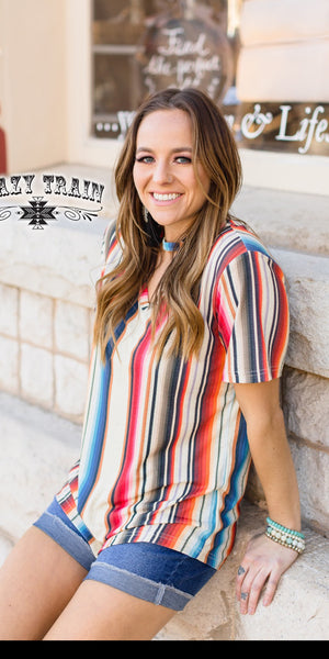 South Bound Serape Top - Also in Plus Size